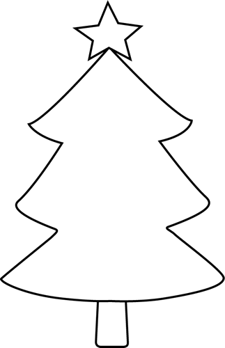 Christmas Tree Clip Art   Black And White Blank Christmas Tree Image