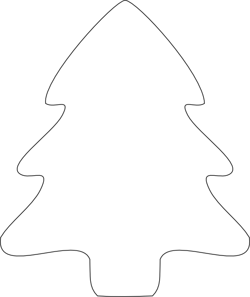 Christmas Tree Outline Clip Art At Clker Com   Vector Clip Art Online