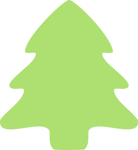 Christmas Tree Outline Clipart   New Calendar Template Site