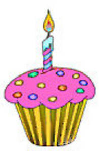 Clip Art Birthday Cupcake   Happy Birthday Idea