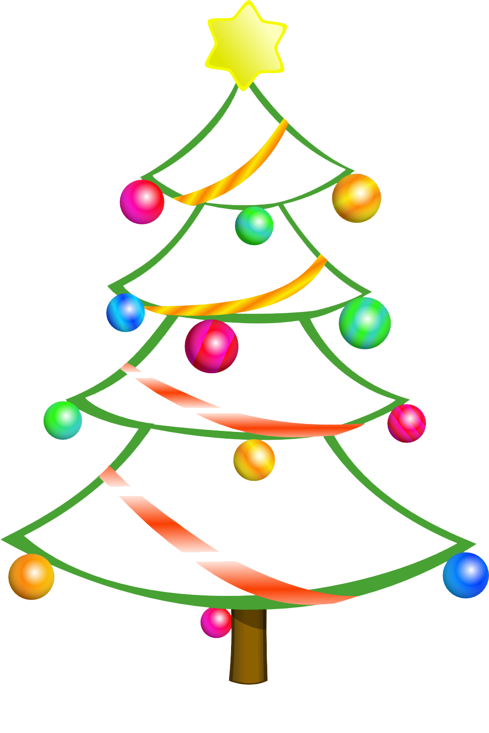Clip Art Christmas Tree Outline Christmas Tree Clip Art Free To Use