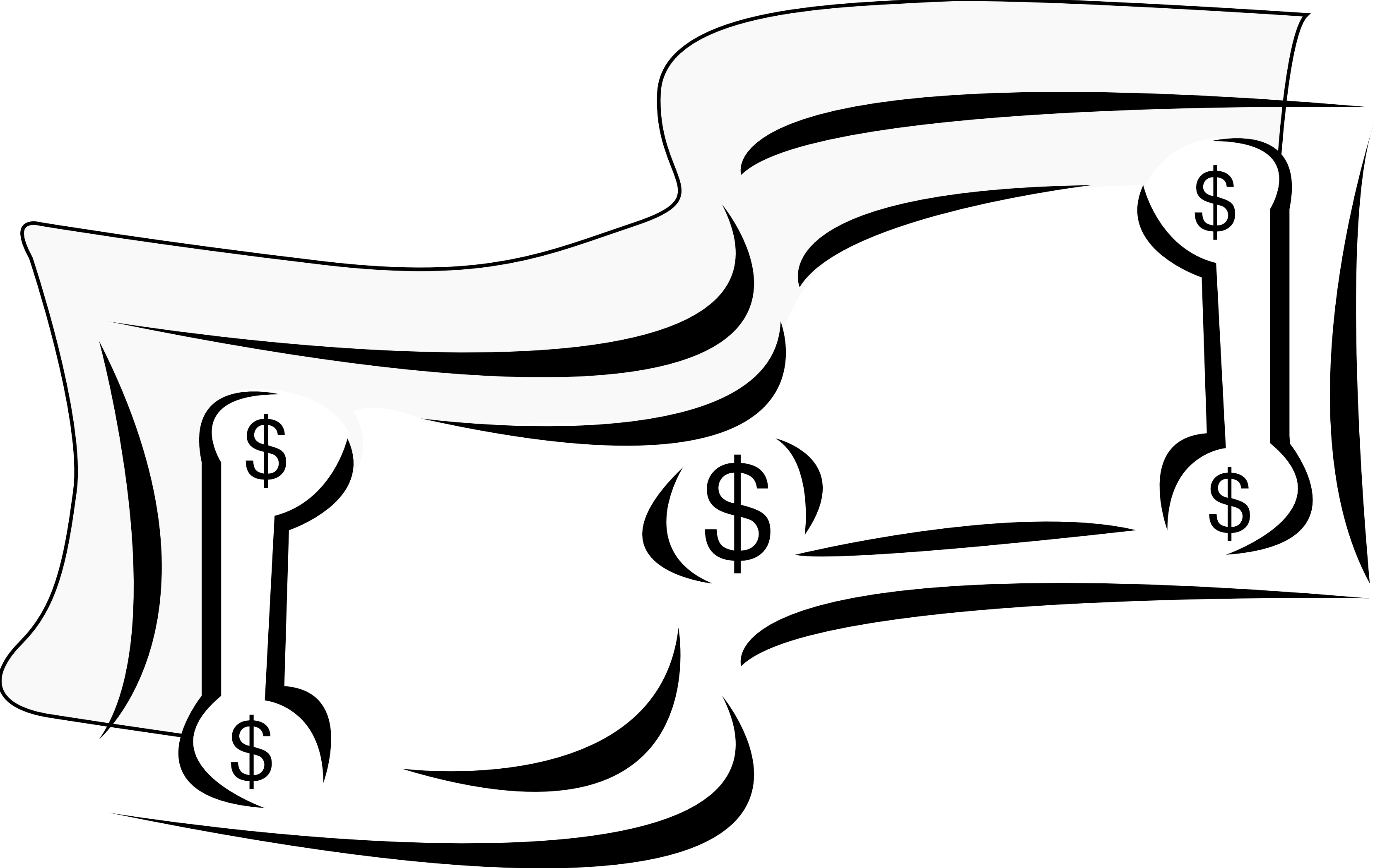 Clipart Black And White Artfavor Stylized Dollar Bill Money Black