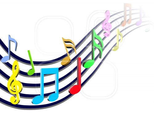 Colorful Music Notes Wallpaper Colorful Music Notes In A Line Jpg