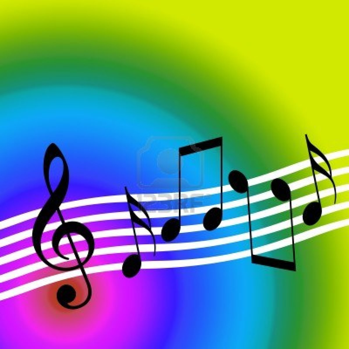 Colorful Music Notes Wallpaper Colorful Music Notes Symbols Funky
