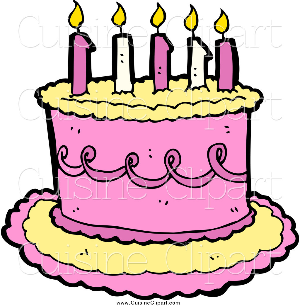 Clipart Real Birthday Cake : Pink Birthday Cake Clipart - Clipart Suggest
