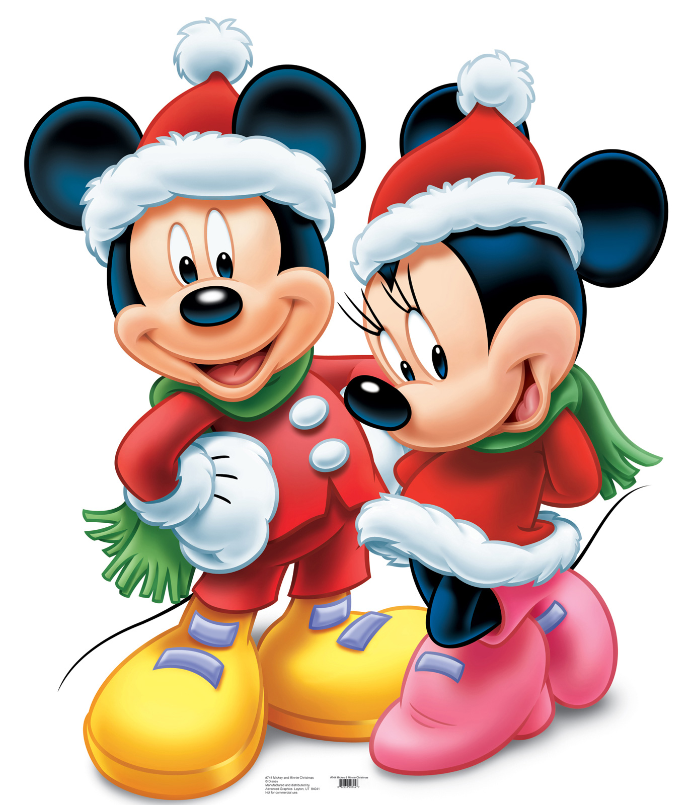 Disney Mickey And Minnie Mouse Christmas Standup   Thepartyworks