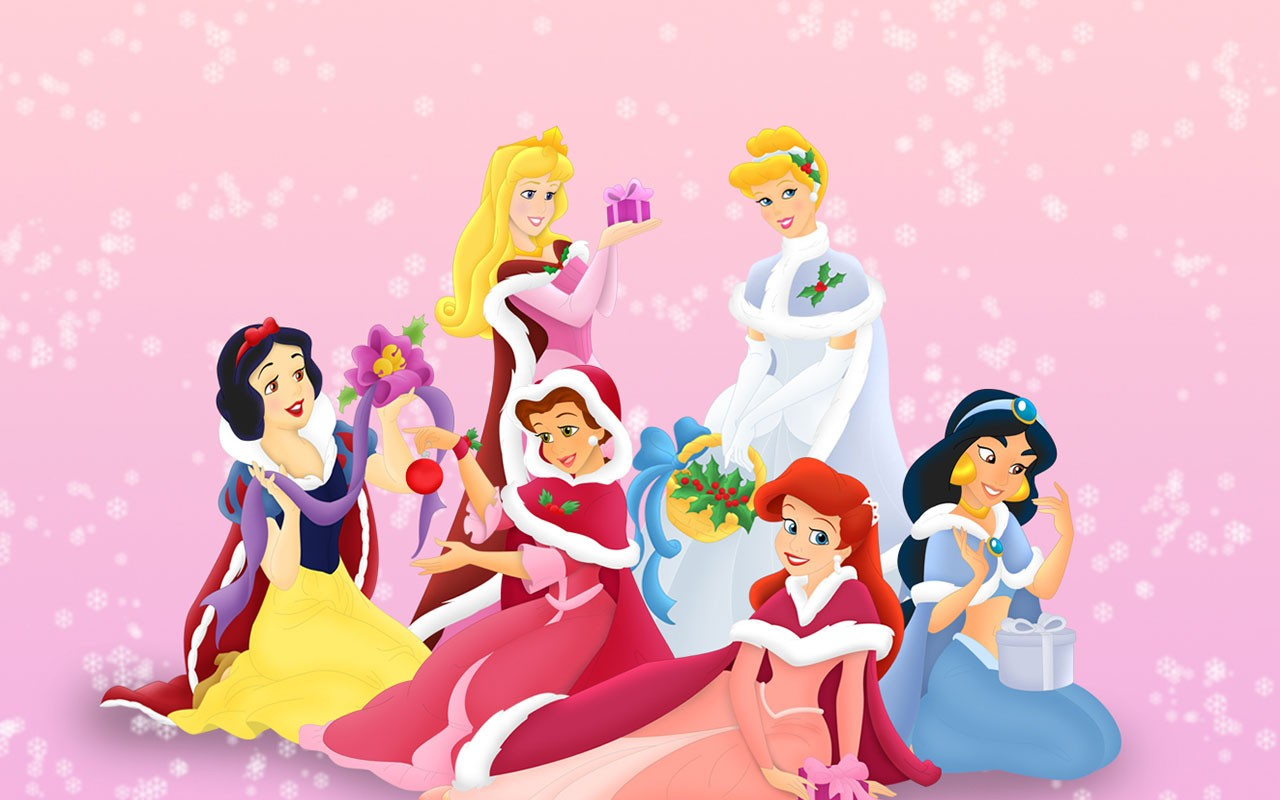 Disney Priness Christmas Princess Wallpaper