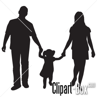 Family Clip Art Black And White Family 01 Png