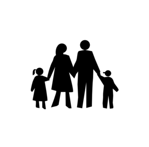 Family Clip Art Family In Black Md Png