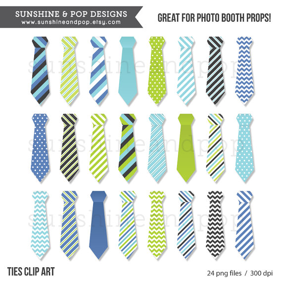 Instant Download   Tie Digital Clip Art Png   Little Man Make Your Own