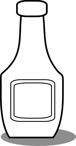 Ketchup Bottle Black And White Clipart Clipart Suggest