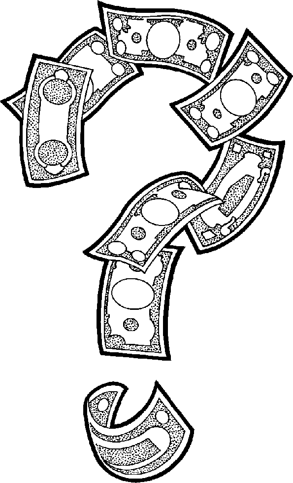 Money Sign Clip Art Black And White Money Question Png