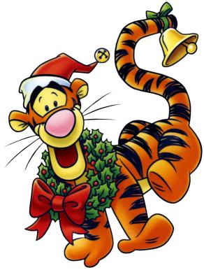 Navide As Tarjetas Fondos Ideas Y M S   Christmas Tigger Wreath
