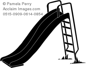Of A Playground Slide In Black And White   Acclaim Stock Photography