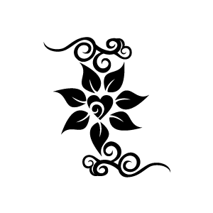 Jasmine Flower Clip Art Black and White – Cliparts