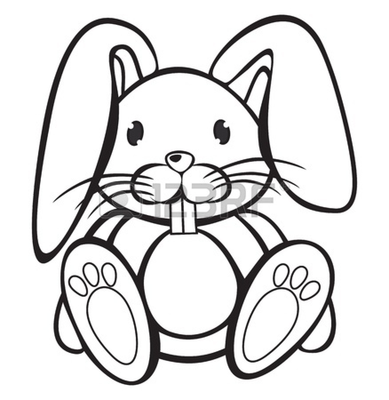 Rabbit Clipart Black And White 15825639 Cute Rabbit Black And White