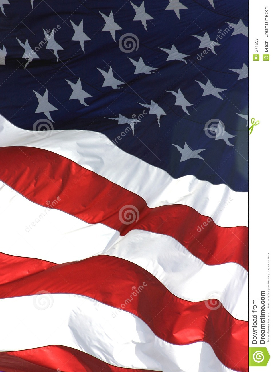 Royalty Free Stock Photos  American Flag Vertical View