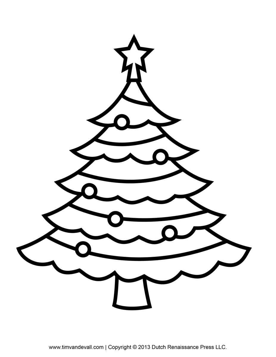 Tree Clip Art Outline Printable Paper Christmas Tree Template Clip Art