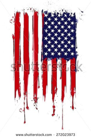 Vertical Composition Vector American Flag In Grunge Styleamerican