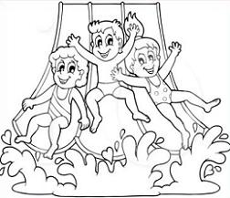 Water Slide Clipart Black And White Water Slide