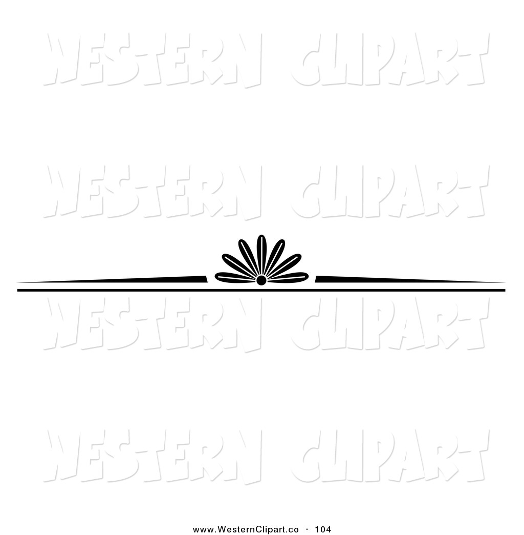 Western Clip Art Of A Black And White Western Styled Border On White