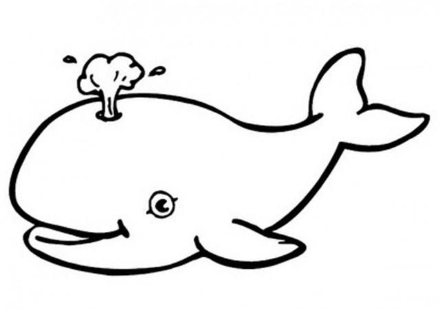 Cartoon whale black and white - photo#12
