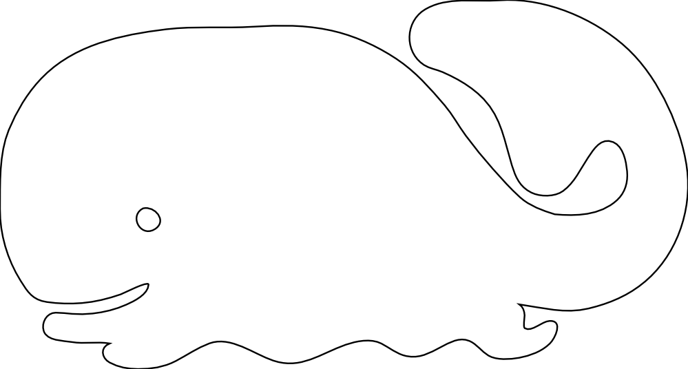 Whale Black And White Clipart - Clipart Suggest