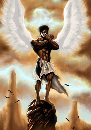 African American Angel Art 041712