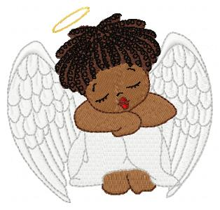 African American Angels   Embroidery Designs