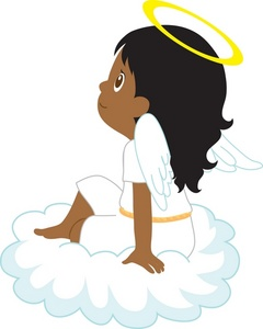 Angel Clipart Image  Clipart Illustration Of An African American Angel