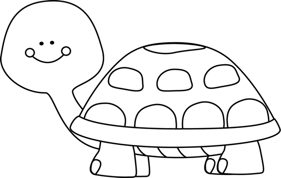 Turtle Black And White Clipart - Clipart Kid