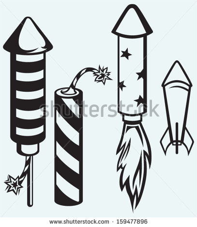 Bottle Rocket Clip Art Rocket Fireworks Isolated On