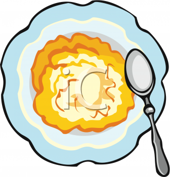 Bowl Of Hot Cereal Royalty Free Illustration Clipart