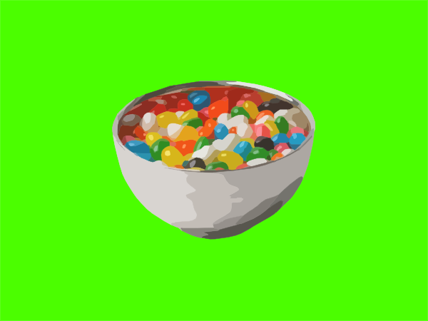Bowl Of Jelly Beans Clip Art At Clker Com   Vector Clip Art Online