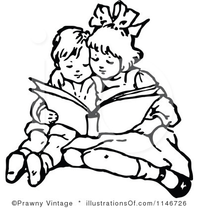 Reading Black And White Clipart - Clipart Kid