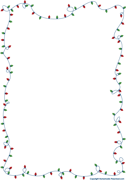 Christmas Lights Border Large
