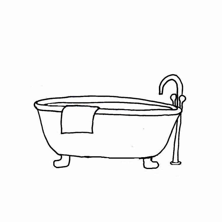 Bathroom Clip Art Black And White
