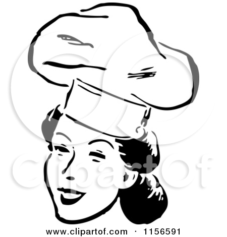 Cooking Clipart Black And White 1156591 Clipart Of A Black And White