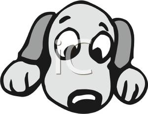 Cute Dog Face Clipart A Colorful Cartoon Cute Puppy Face With Big Eyes