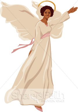 Female Angel Flying Clipart   Angel Clipart