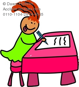 Good Student Sitting At Desk Clipart   Clipart Panda   Free Clipart