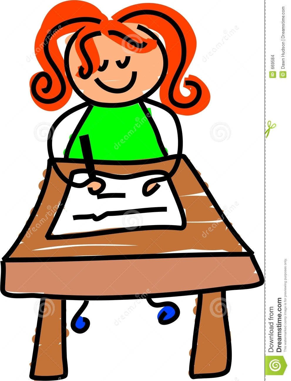 Good Student Sitting At Desk Clipart Little Girl Sitting At A Desk