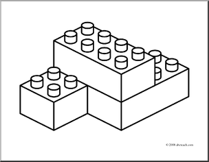 Lego Block Colouring Pages