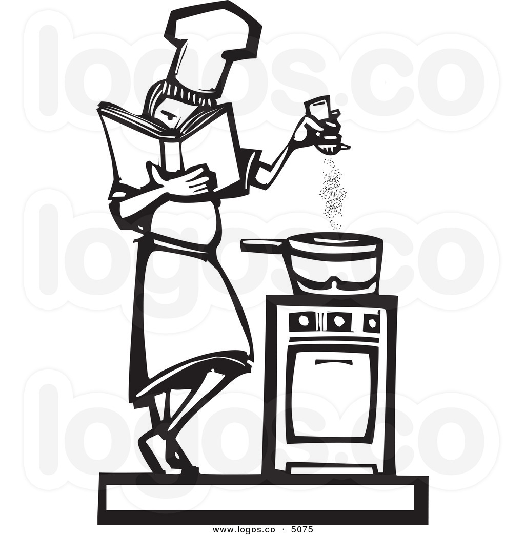 Man Cooking Clipart Black And White   Clipart Panda   Free Clipart