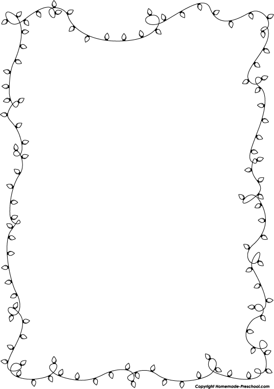 String Of Christmas Lights Black And White Clipart - Clipart Kid