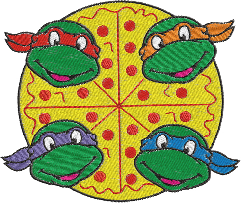 Ninja Turtles Machine Embroidery Design    0259