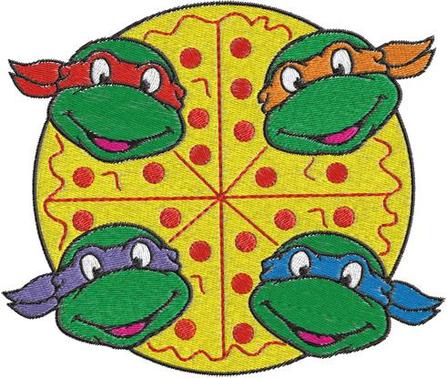 Clip Art Ninja Turtle Clip Art ninja turtles clipart kid machine embroidery design 0259