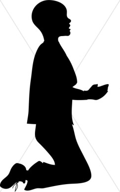 Black Man Praying Clipart - Clipart Kid