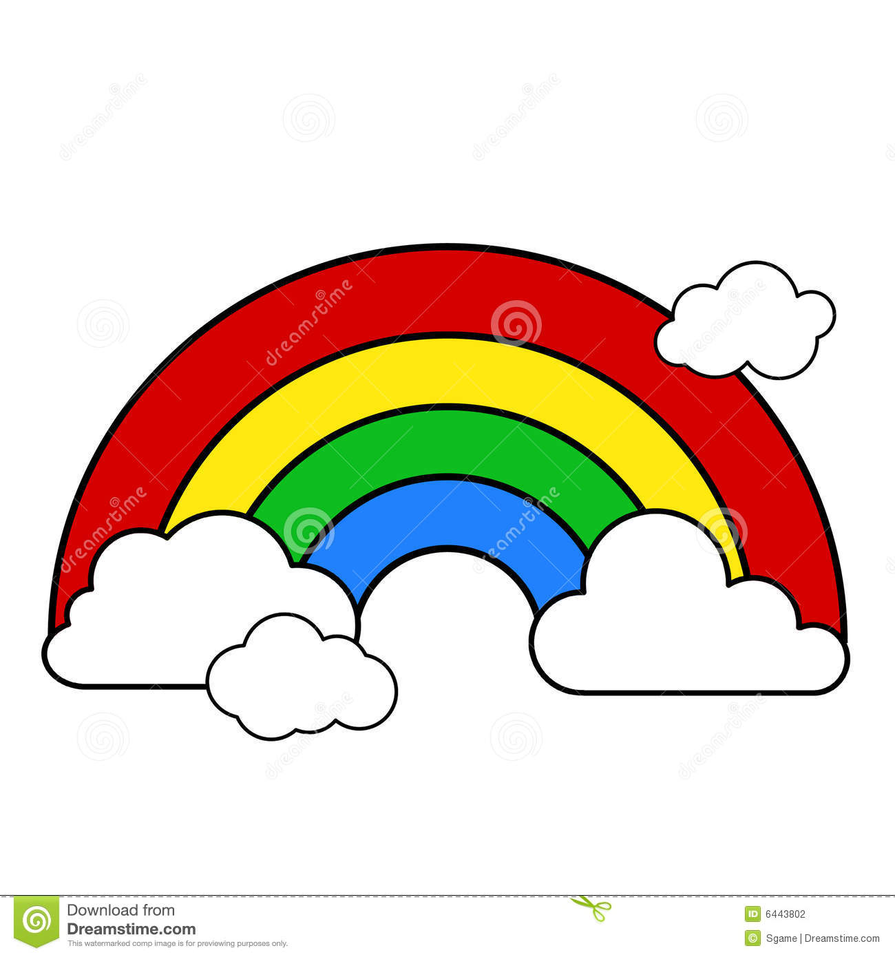 Rainbow Clipart Black And White Black And White Rainbow Outline