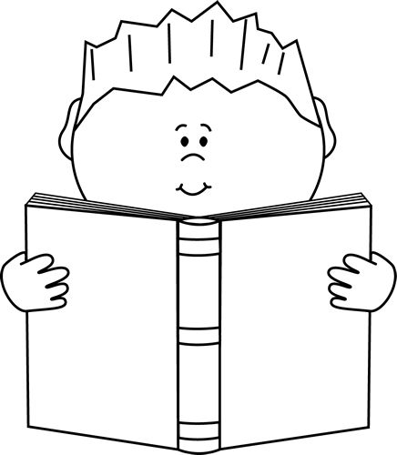 Reading Clipart Black And White   Clipart Panda   Free Clipart Images